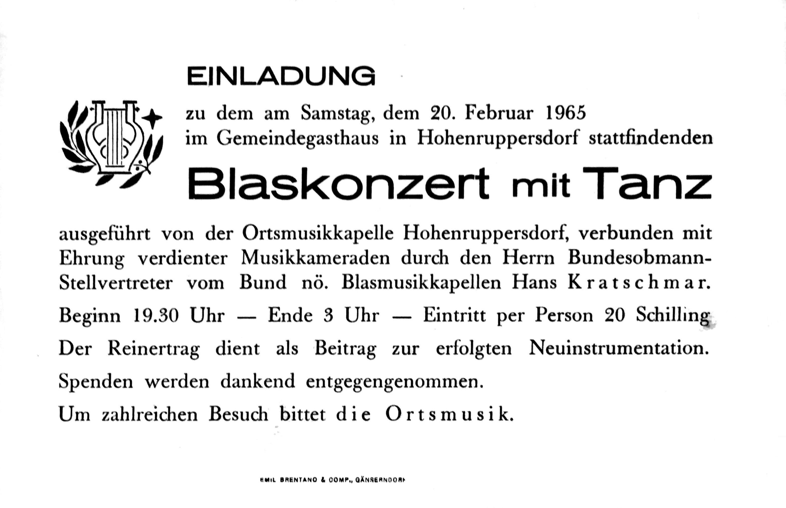Einladung zum Blaskonzert, 1965